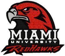 Miami University logo machine embroidery design