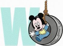 Mickey Mouse W Wheel