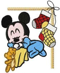 Mickey Mouse Christmas Dream machine embroidery design