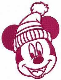 Mickey Mouse likes warm hat