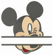Mickey Mouse monogram