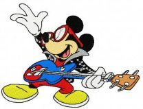 Mickey Mouse rock star