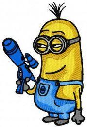 Minion with gun