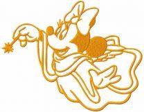 Minnie Mouse Christmas Angel with magic wand embroidery design