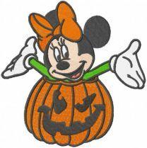 Minnie pumpkin costume embroidery design