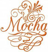 Mocha embroidery design