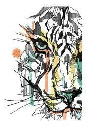 Modern art tiger