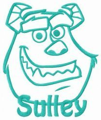 Monster Sulley embroidery design