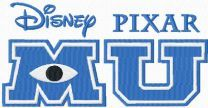 Monster University logo machine embroidery design