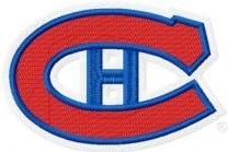 Montreal Canadiens logo embroidery design