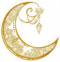 Moon machine embroidery design 3