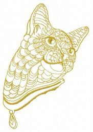 Mosaic cat embroidery design 6
