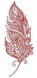 Mosaic feather embroidery design 2