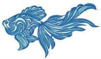 Mosaic fish embroidery design 7