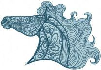 Mosaic Horse embroidery design 4