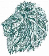 Mosaic lion 3