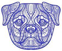 Mosaic pug-dog 2