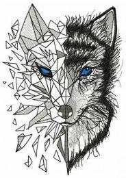 Mosaic wolf 8