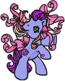 My Little Pony Fire Dance embroidery design