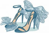 My fashion high heels embroidery design
