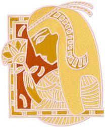 Nefertiti free embroidery design