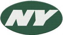 New York Jets alternative logo machine embroidery design