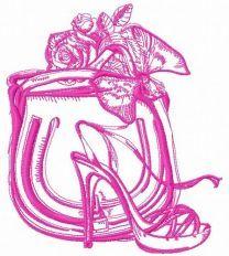 NY fashion lady machine embroidery design 3