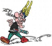 Asterix embroidery design 3
