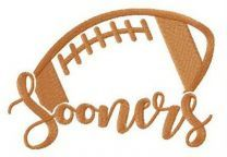 Oklahoma Sooners fan logo embroidery design