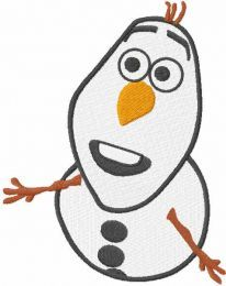 Olaf asks a question embroidery design