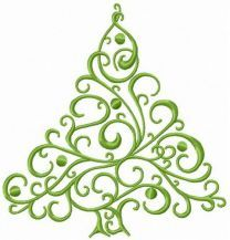 Openwork fir tree embroidery design
