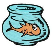 Orange fish in aquarium