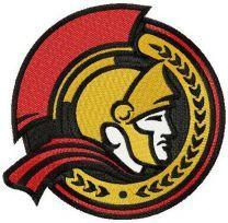 Ottawa Senators alternative logo machine embroidery design