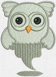 Owl ghost machine embroidery design
