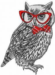 Polar owl in glasses