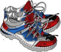 Patriotic cross shoes