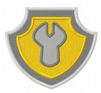 Paw Patrol shield embroidery design 2