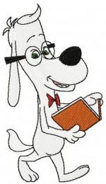Peabody reading a book