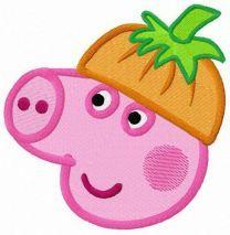 Peppa in pumpkin hat
