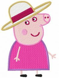 Peppa lady embroidery design