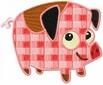 Mother Pig machine embroidery design