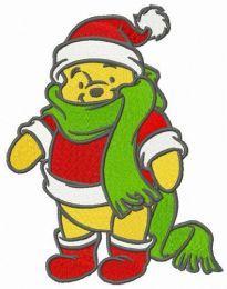 Pooh in Santa Claus costume