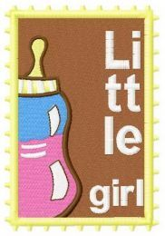 Postage stamp Little girl