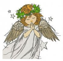 Praying angel embroidery design 8