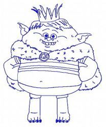 Prince Gristle 2 embroidery design