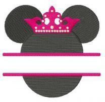 Princess Minnie monogram