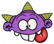Purple horny monster
