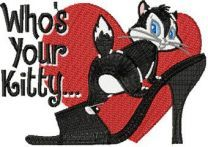 Pussyfoot -Who*s your Kitty embroidery design
