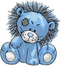 Rocky Lion machine embroidery design