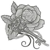 Rose and vintage key 2